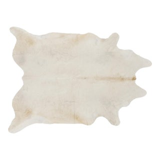 White Genuine Brazilian Cowhide