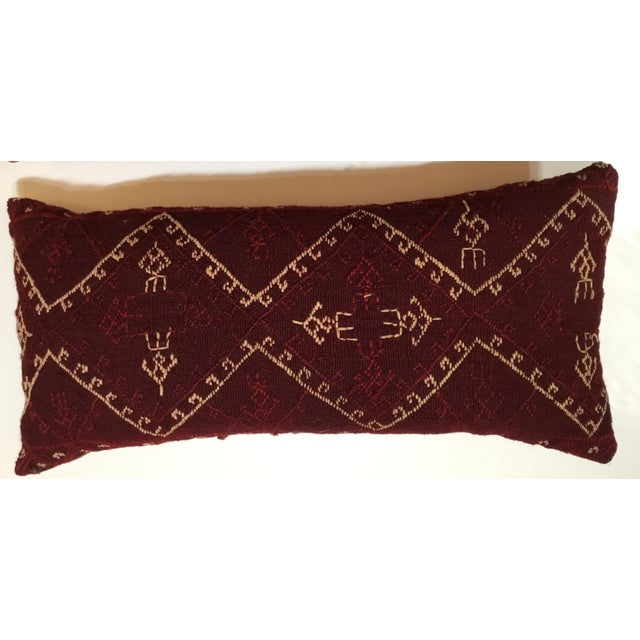 Cotton Hand Embroidery Textile Pillows - A Pair For Sale - Image 7 of 10