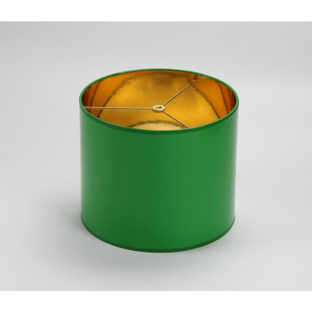 Lampshade Designs Small High Gloss Green Drum Lamp Shade For Sale - Image 4 of 6