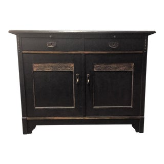 Hollywood Regency Navy Blue Buffet For Sale