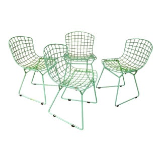 Mid Century Modern Harry Bertoia for Knoll Children's Wire Chairs- Set of 4 For Sale
