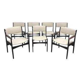 1960s Poul Volther Frem Rojle Dining Chairs- Set of 7 For Sale