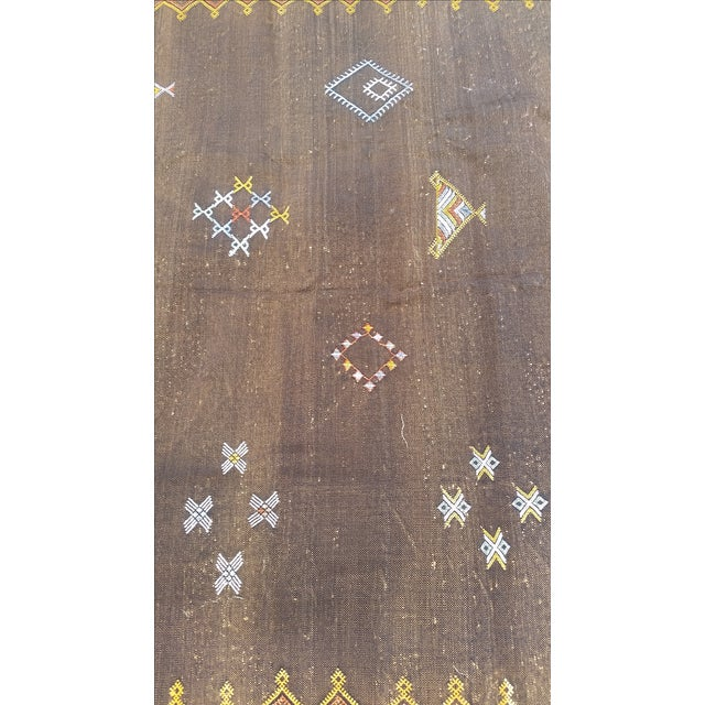 Cactus Silk Moroccan Rug - 4′7″ × 8′ - Image 4 of 5