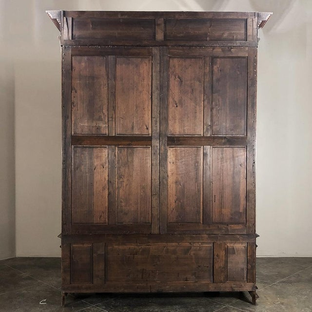 Grand 19th Century Italian Walnut Neoclassical Bookcase For Sale - Image 12 of 13