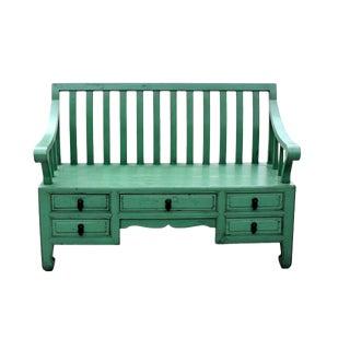 Green Settee Bench