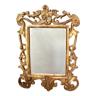 Italian Baroque Gold Gilt Mirror For Sale