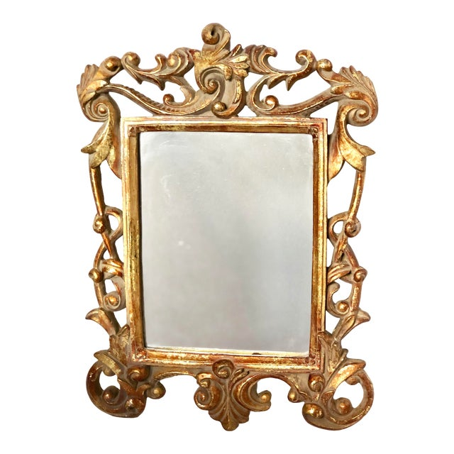 Italian Baroque Gold Gilt Mirror For Sale