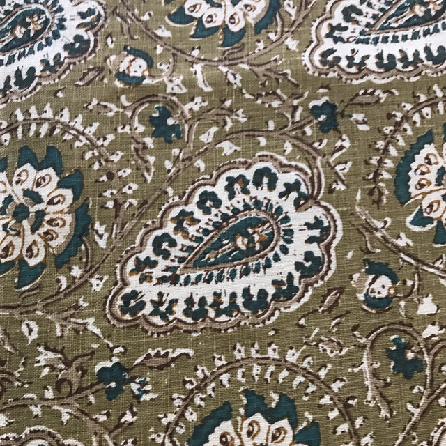 "Jasper ""Agra"" Fabric- 1 1/4 Yards For Sale - Image 5 of 6"
