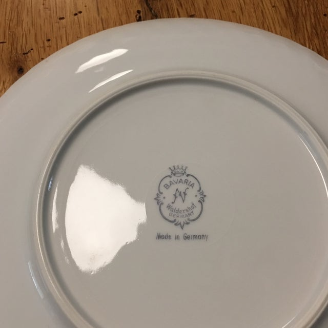 Traditional Waldershof Gold Swirl Plate For Sale - Image 3 of 4