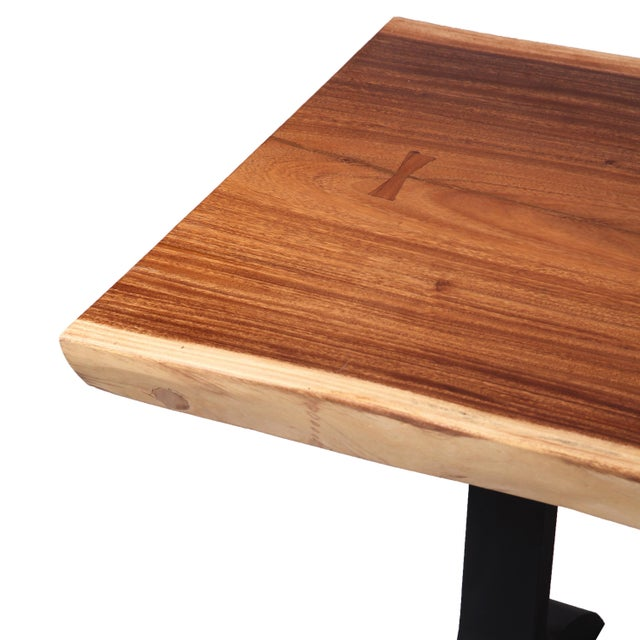 2010s Organic Modern Living Edge Dining Table For Sale - Image 5 of 6