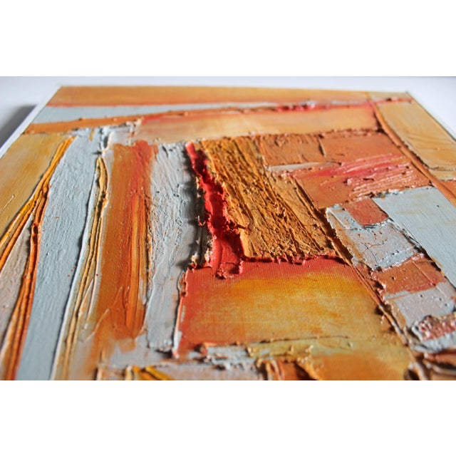 Sylvie Guillemé Abstract Impasto Oil Painting - Study in Orange - Image 3 of 6