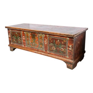 Central EuropeanPainted Trunk For Sale