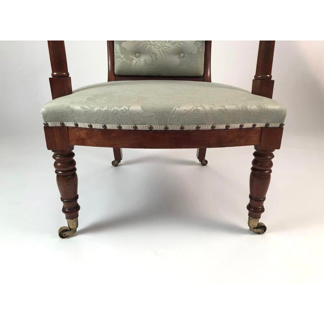 19th Century French Empire Neoclassical Armchair For Sale In Boston - Image 6 of 11