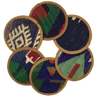 Kilim Coasters Set of 6 | Kuyumcular For Sale