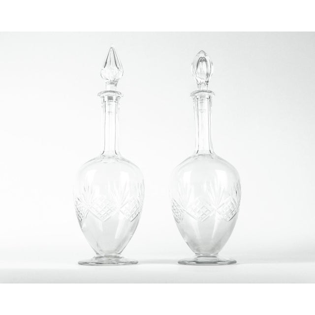 Mid Century Cut Crystal Drinks Decanters - a Pair For Sale In New York - Image 6 of 6