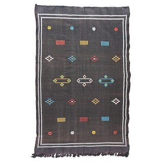 Moroccan Cactus Silk Rug- 6'4'' X 3'10'' For Sale