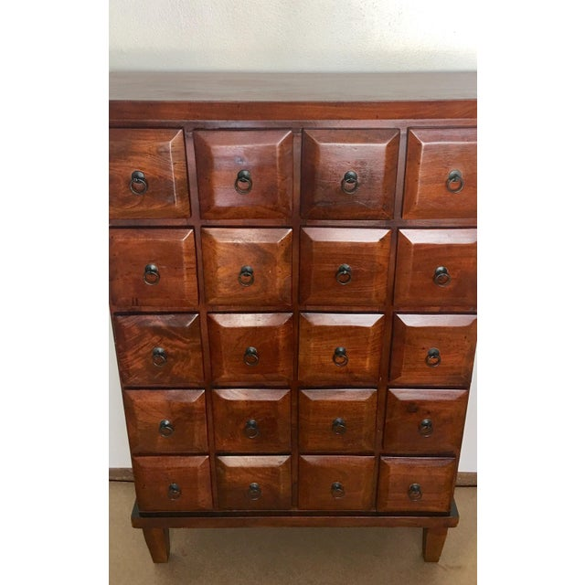 Vintage Mahogany Apothecary 20 Drawer Cabinet For Sale - Image 4 of 11