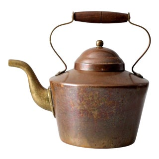 Vintage Tagus Copper Teapot For Sale