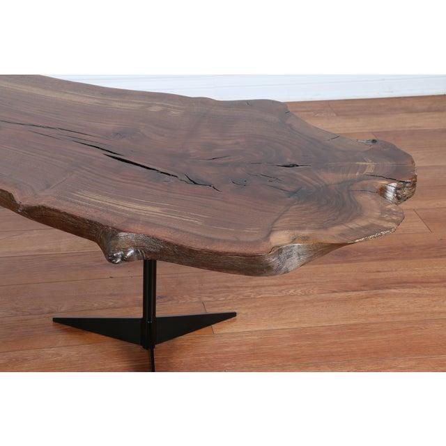 Solid Walnut Wood Slab Coffee Table - Image 10 of 10