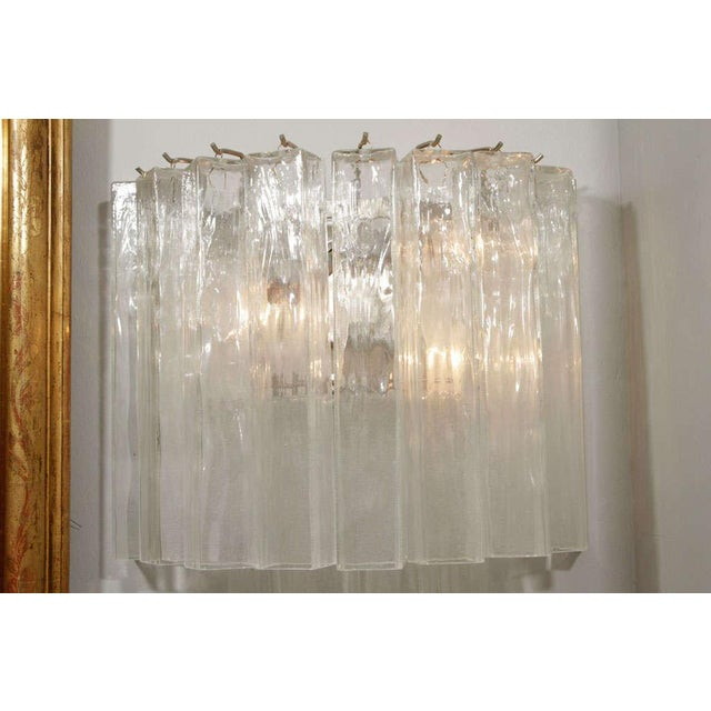 Italian Murano Waterfall Sconces - A Pair For Sale - Image 3 of 10
