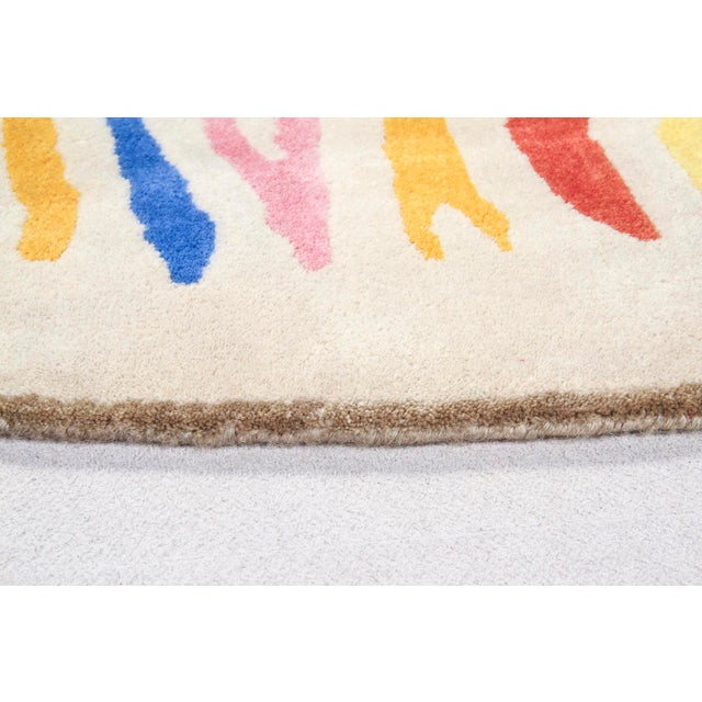 The Haas Brothers 'Fruit Stripe' quagga carpet in wool. For Sale - Image 4 of 5