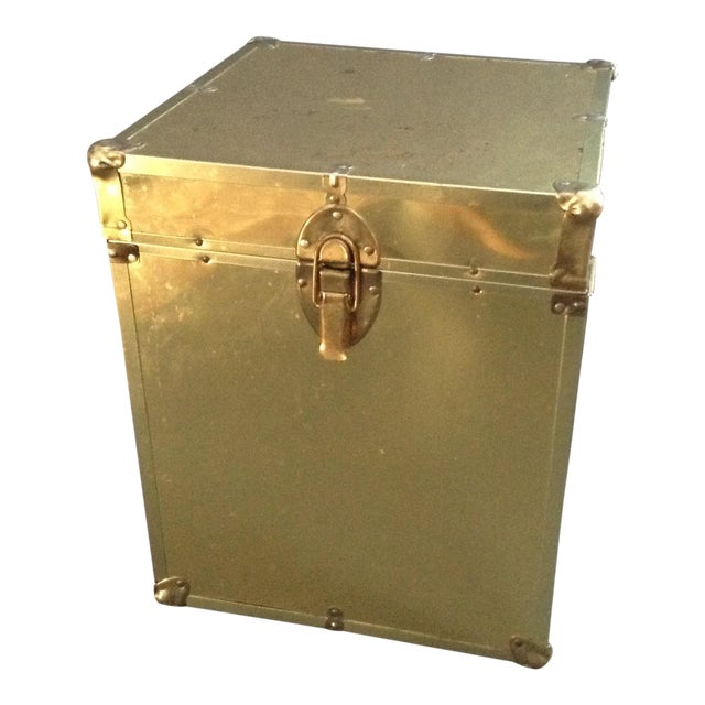 1970's Brass Clad Trunk - Image 1 of 7