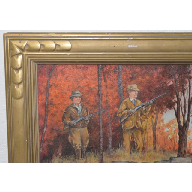 """Impressionist John Lawrence Murray """"The Hunt"""" Original Oil Painting C.1941 For Sale - Image 3 of 9"""