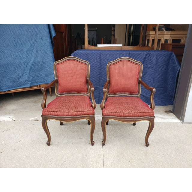 Henredon Vintage Henredon French Regency Armchairs- a Pair For Sale - Image 4 of 11