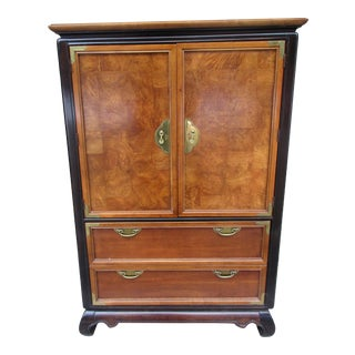 1980s Chinoiserie Style Armoire For Sale