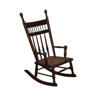Antique Oak Victorian Oak Childs Rocking Arm Chair