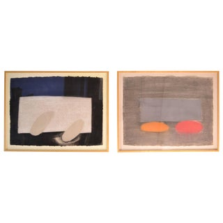 Michael Steiner, Signed Works on Paper Paintings - a Pair For Sale