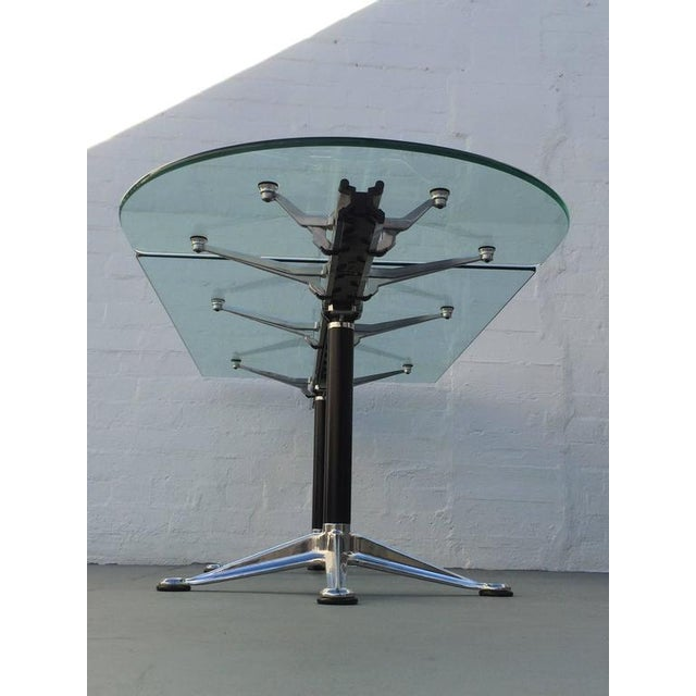Silver Glass and Aluminum Table Designed by Bruce Burdick for Herman Miller For Sale - Image 8 of 9