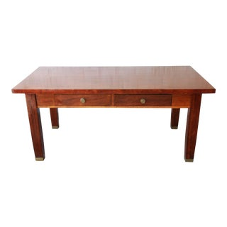 Antique Mahogany Library Table, Circa 1900 For Sale