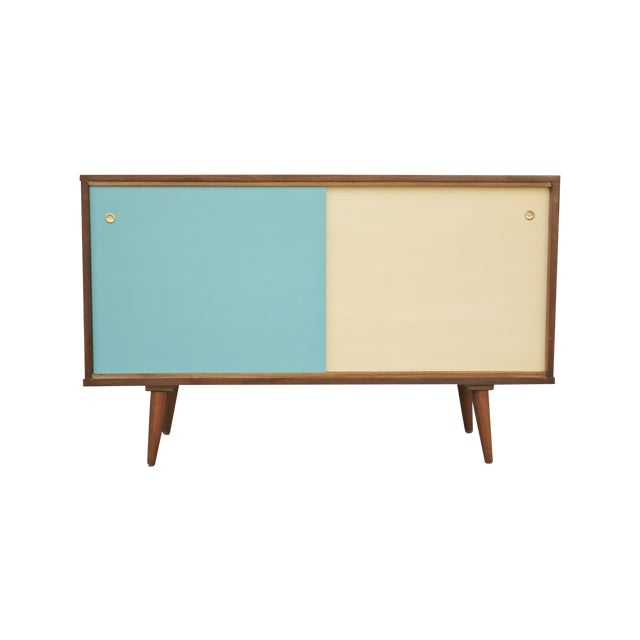 Mid-Century Style Two Door Credenza For Sale
