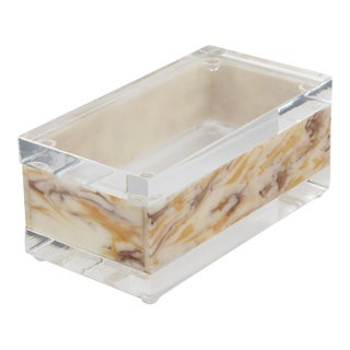 Marble-Like Lucite Box For Sale