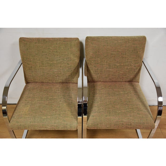 Cy Mann Chrome Flat Bar Lounge Chairs - a Pair - Image 7 of 9