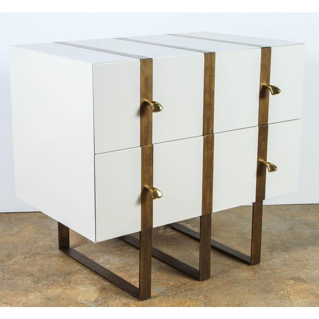 Paul Marra Paul Marra 2-Drawer Banded Chest For Sale - Image 4 of 8