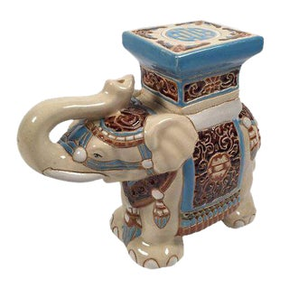 Ceramic Elephant Plant Stand For Sale