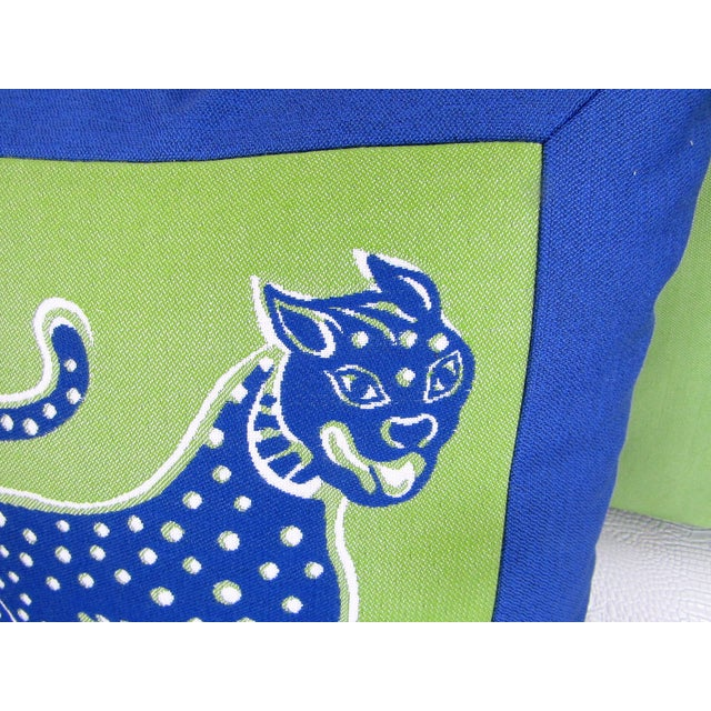 Custom Made Lime and Periwinkle Pillows - Set of 3 For Sale - Image 4 of 7