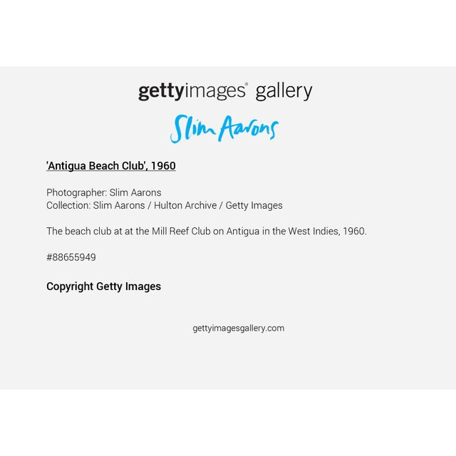 """Not Yet Made - Made To Order Slim Aarons, """"Antigua Beach Club,"""" January 1, 1960 Getty Images Gallery Framed Art Print For Sale - Image 5 of 5"""