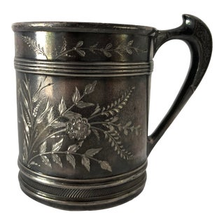 Rare Antique Middletown Quadruple Silver Plate Cup For Sale