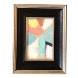 Image of Original Vintage Small Abstract Painting Vintage Photo Frame For Sale