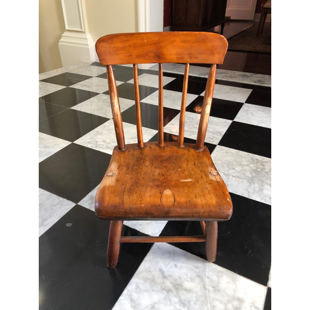 American Primitive Child's Windsor Chair - Image 3 of 5