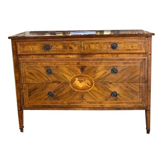 18th Century Italian Neoclassical 3 Drawer Commode For Sale