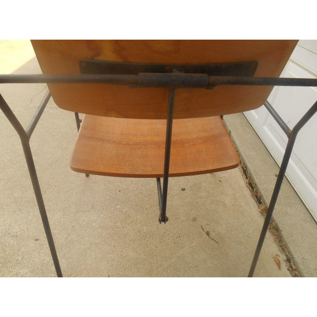 Arthur Umanoff Iron & Walnut Swing Chair - Image 7 of 8