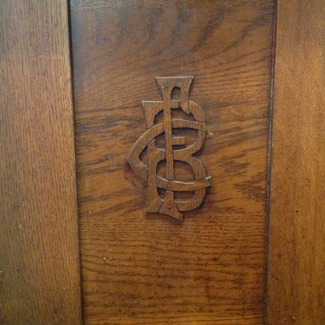 Antique Knights of Pythias Oak Table or Stand - Image 6 of 7