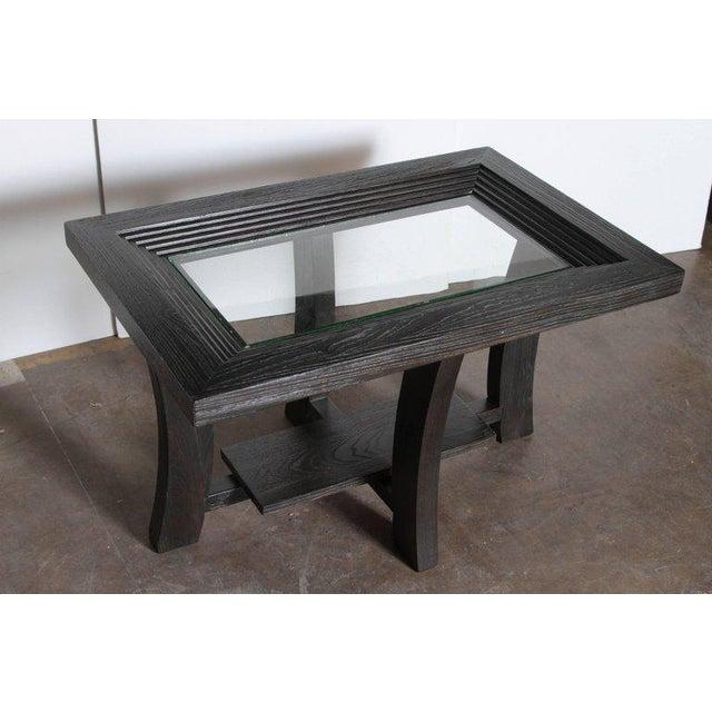 Brown Saltman Post Art Deco Cerused Oak Side Table by Brown Saltman Paul Frankl For Sale - Image 4 of 11