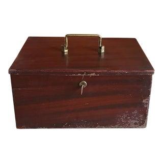 1950s Cash Box, Extra Heavy Metal with Key