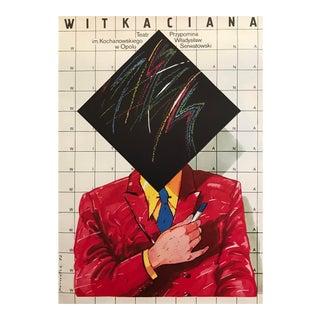 Original 1982 Vintage Polish Film Poster, Witkaciana