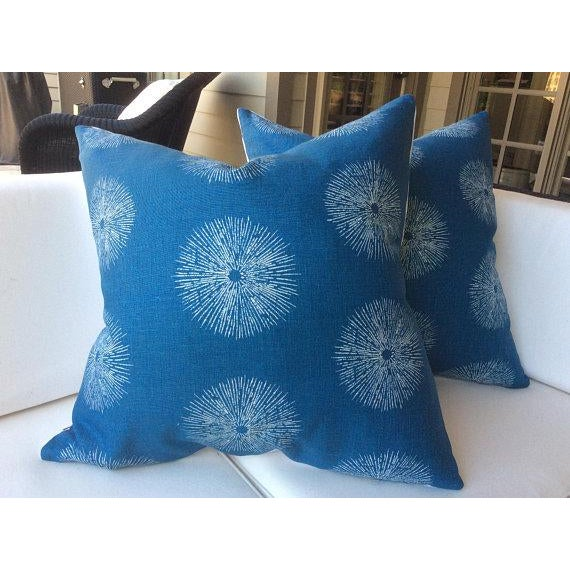 "2010s Groundworks ""Sea Urchin"" Pillows - a Pair For Sale - Image 5 of 5"